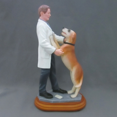 Happy You're Home (male veterinarian and dog)